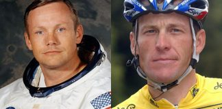 Neil and Lance Armstrong