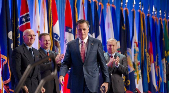 Romney Addresses National Guard Convention