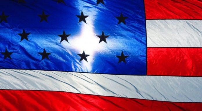 U.S. Flag with Sunlight Cross