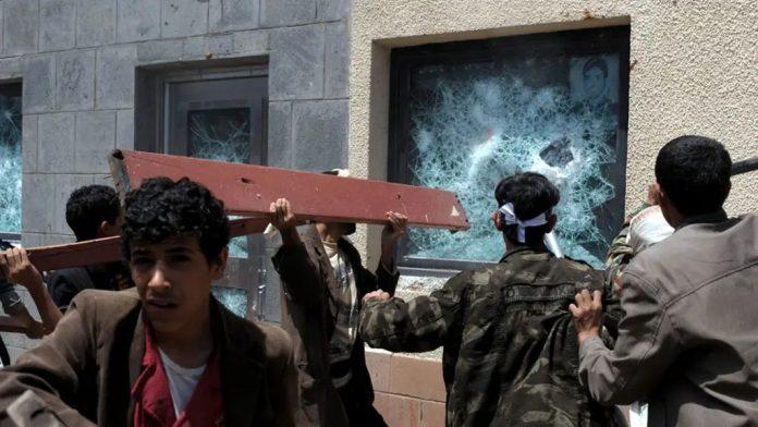 Yemeni protesters storm the US embassy.