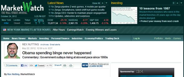 Rex Nutting - MarketWatch