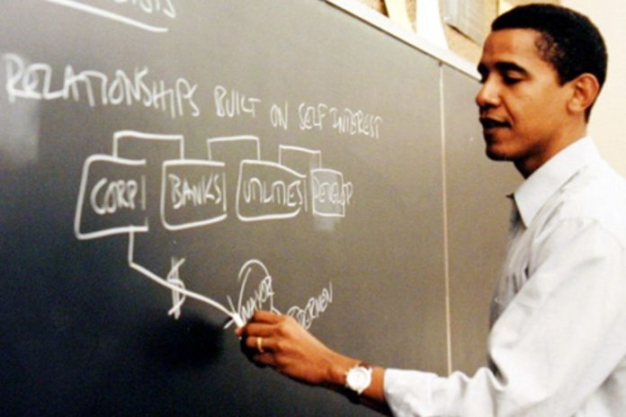 Obama teaching at Chicago Law