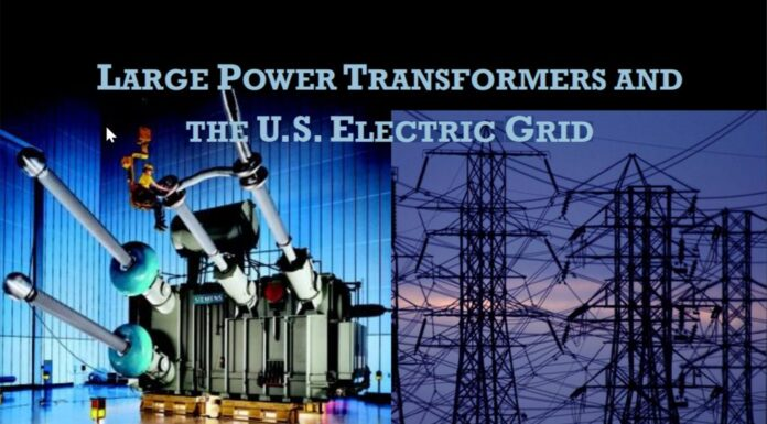 Large Power Transformers And The U.S. Electric Grid