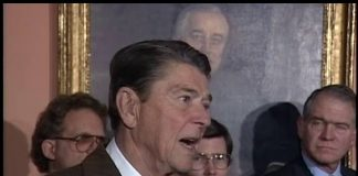 President Reagan signing the Immigration Reform and Control Act