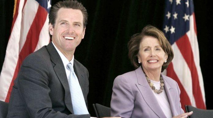 Gavin Newsom and his aunt, Nancy Pelosi