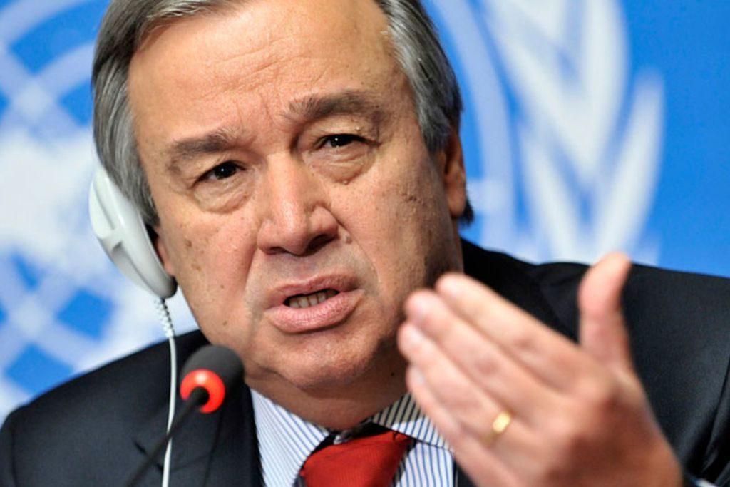 Antonio Guterres Secretary General UN.