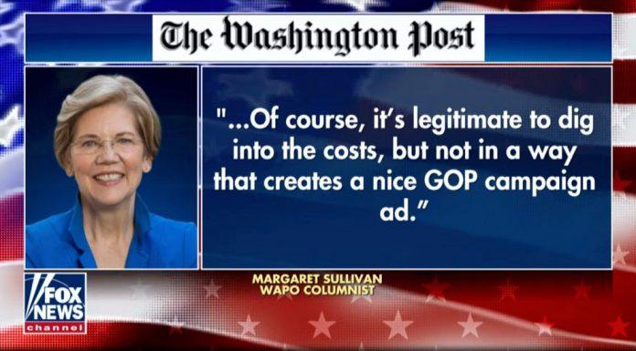 Elizabeth Warren media protection.