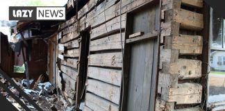 Couple Discover 19th-century Log Cabin During house demolition