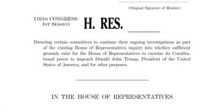 House Resolution on Trump Impeachment