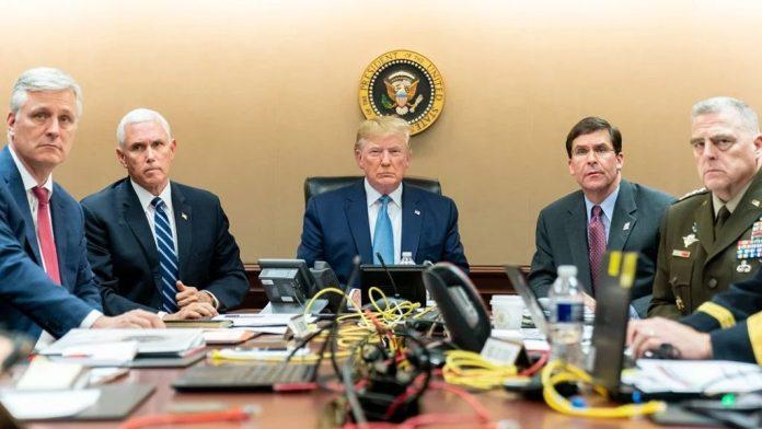 Trump and council on al-Baghdadi Raid