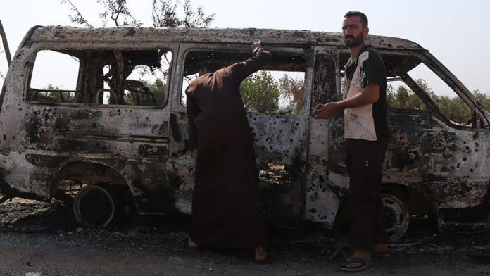 destroyed van near the area in Syria where U.S. Special Operations forces killed ISIS leader Abu Bakr al-Baghdadi.