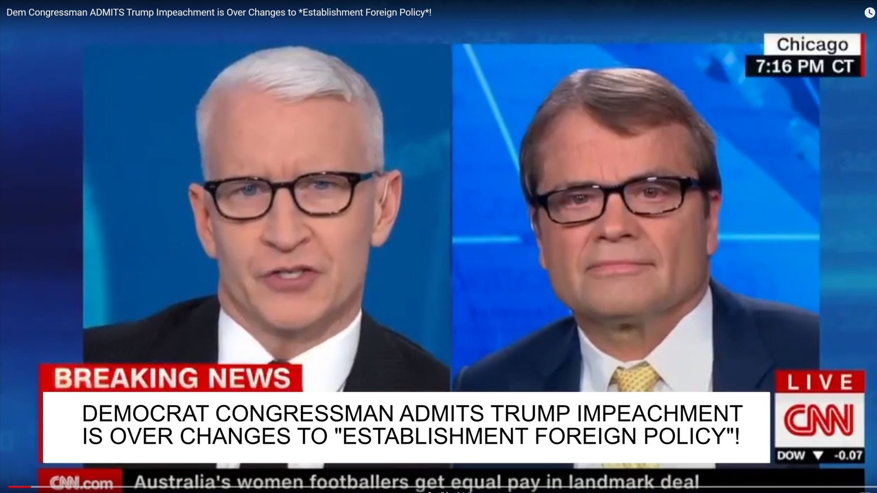 Rep Mike Quigley (D-IL) and Anderson Cooper onCNN