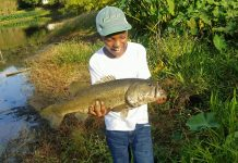 Ke'mari Cooper of Quincy, Florida lands a BIG fish and releases it