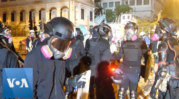 Police and Protesters Clash at Hong Kong Polytechnic University