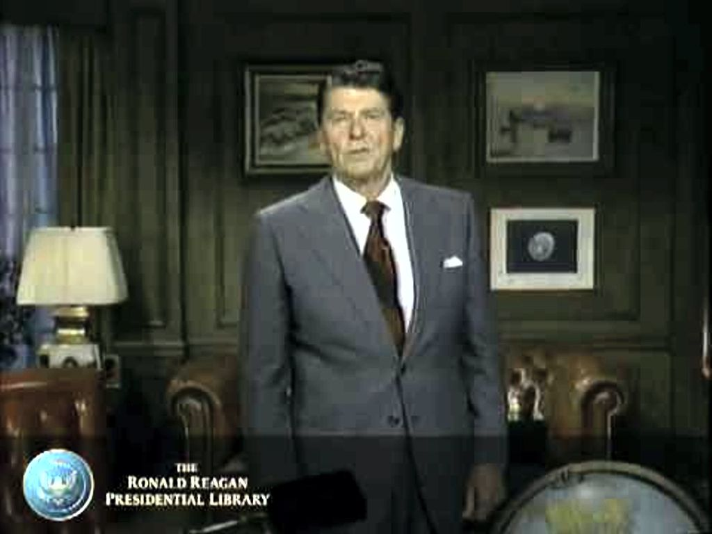 Ronald Reagan Announces His Candidacy