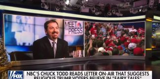 Chuck Todd highlights letter mocking Christian Trump supporters