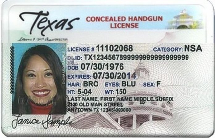 Texas Concealed Handgun License