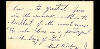 Handwritten note by Dr. Martin Luther King Jr. goes on sale