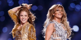 Shakira and Lopez perform at Super Bowl LIV show