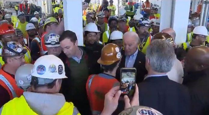 Biden Confronted On Gun Policies During Auto Plant Visit