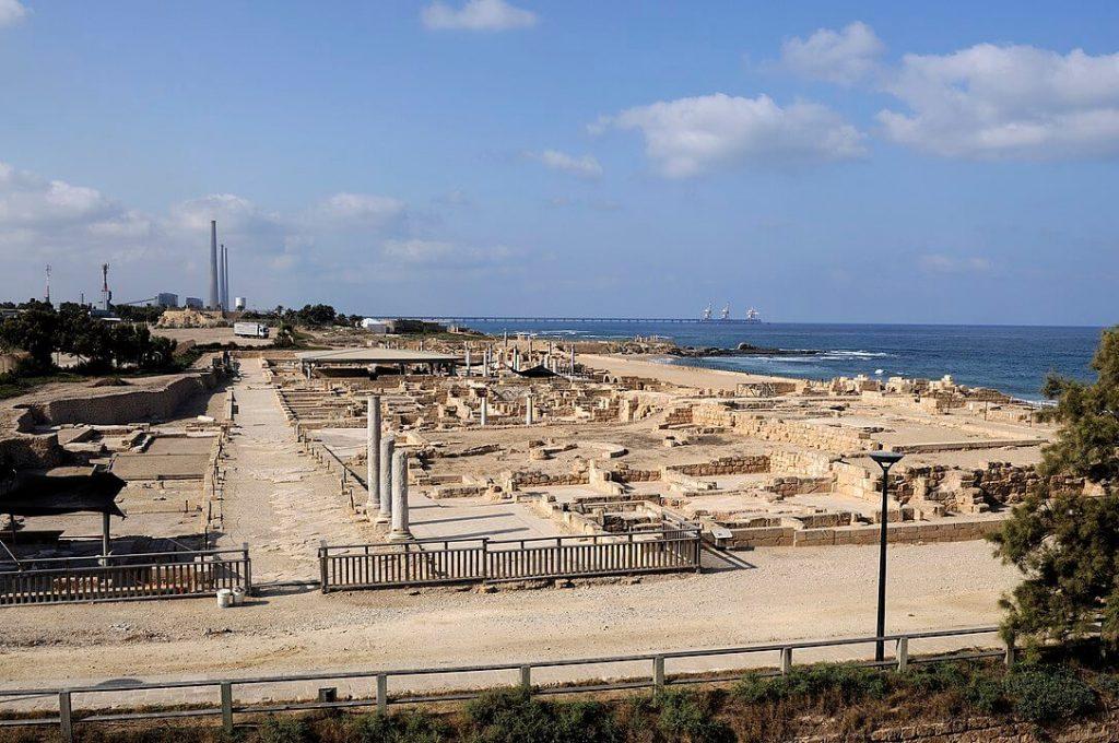 Ruins at Caesarea Maritime.
