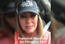 Registered Republican can't vote Republican