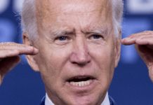 former Vice President Joe Biden speaks at a campaign event