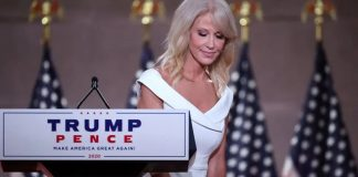 Kellyanne Conway' speaking at the Republican National Convention