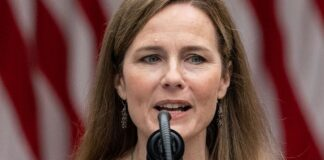Judge Amy Coney Barrett speaks after President Donald Trump announced her as his nominee