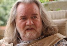 Jim Garrow, seen on the front porch of his home in 2010