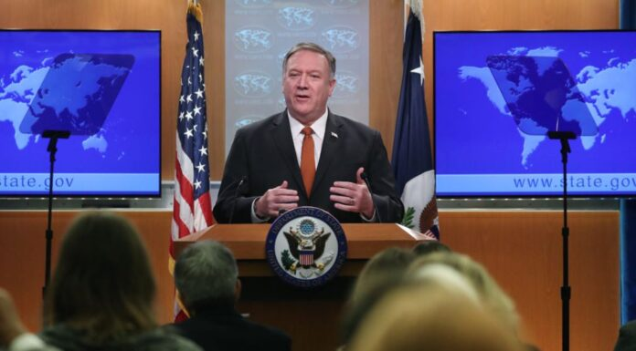 Mike Pompeo speaks to the Media