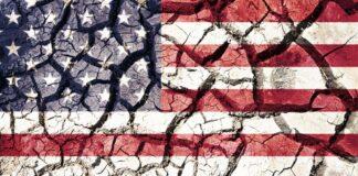 Cracked American Flag