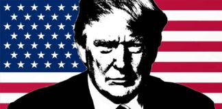Donald Trump Art With Flag