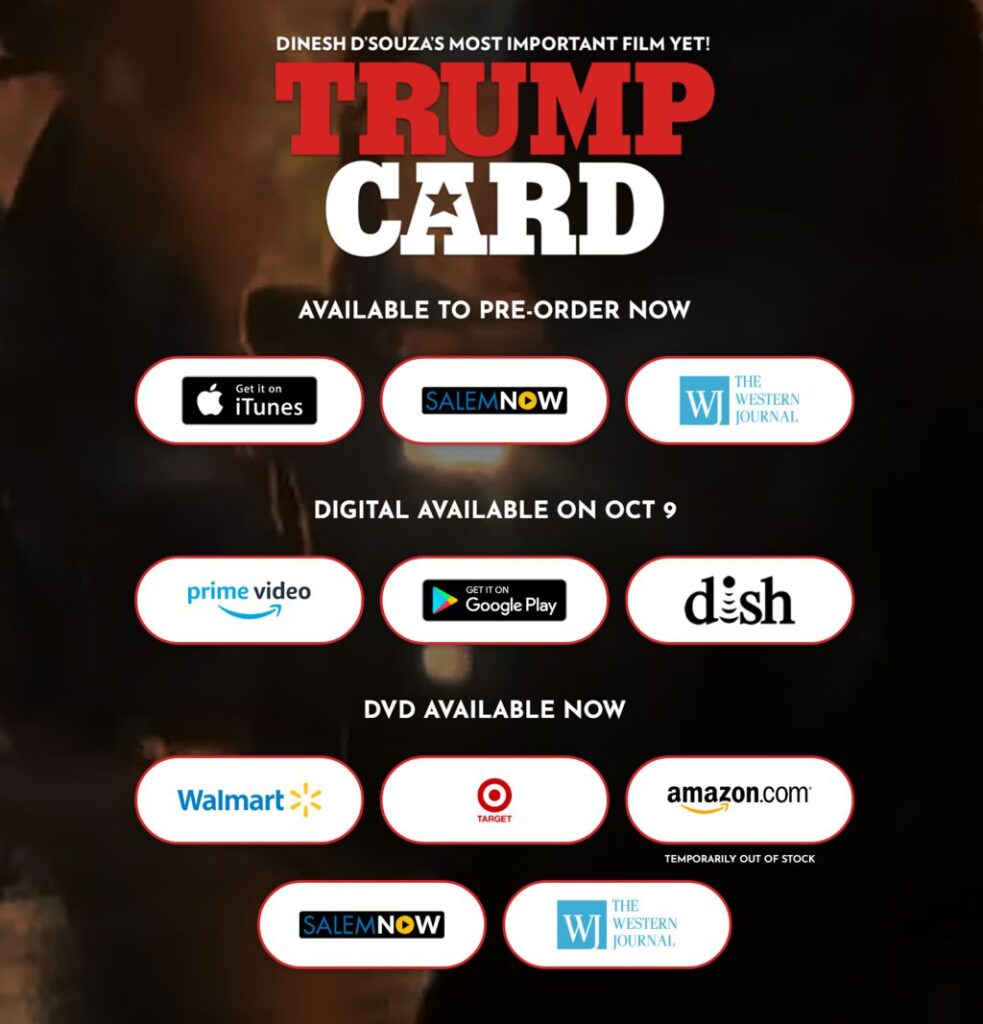 Buy DVD or watch Trump Card on Demand