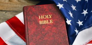 Holy Bible and the American Flag