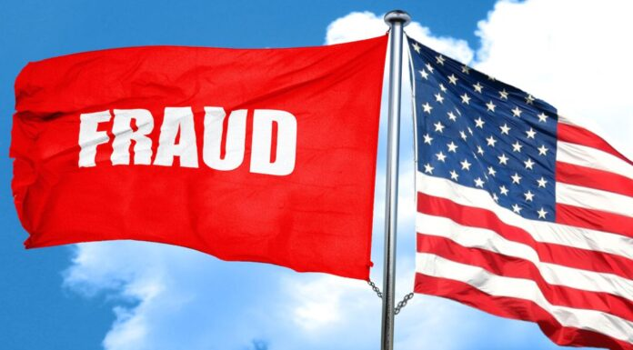 Red Flag of Fraud and, U.S. Flag