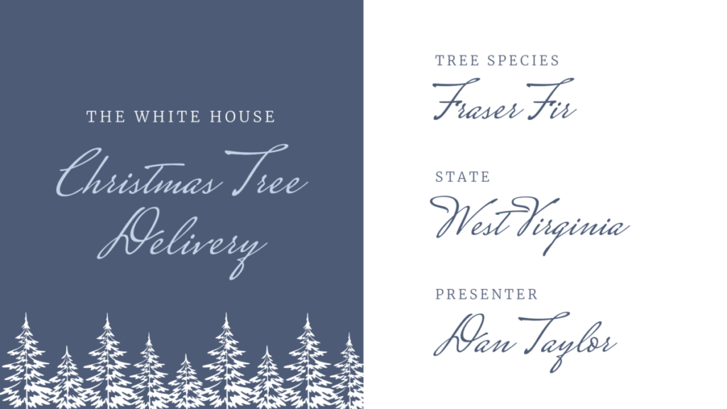 The White House Christmas Tree Delivery