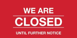 We Are Closed Until Further Notice