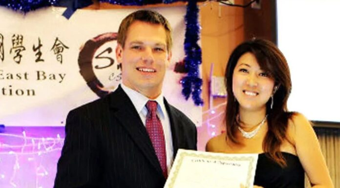 Eric Swalwell and Christine Fang