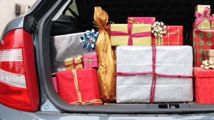 Christmas Gifts in Car