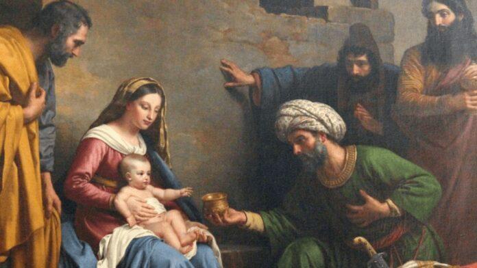 Joseph, Mary , Baby Jesus and the wisemen