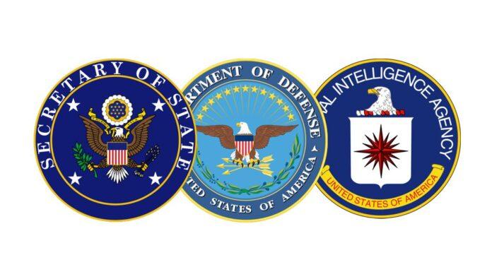 Secretary of State, Dept. of Defense- CIA Seals