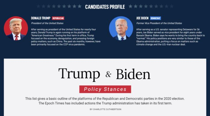 Trump & Biden Policy Stance