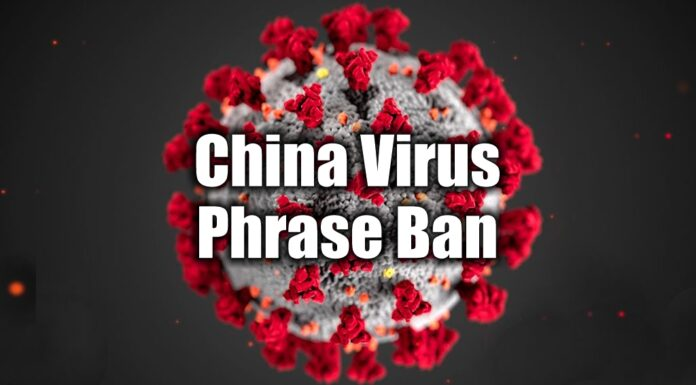 China Virus Phrase Ban