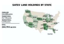 Bill Gates Land Holdings By State