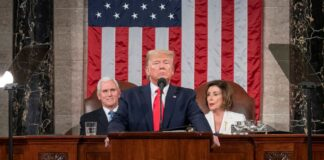VP Pence, President Trump, and Nancy Pelosi