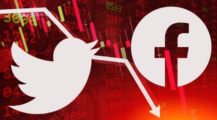 Twitter Facebook Combined Market Value Erased