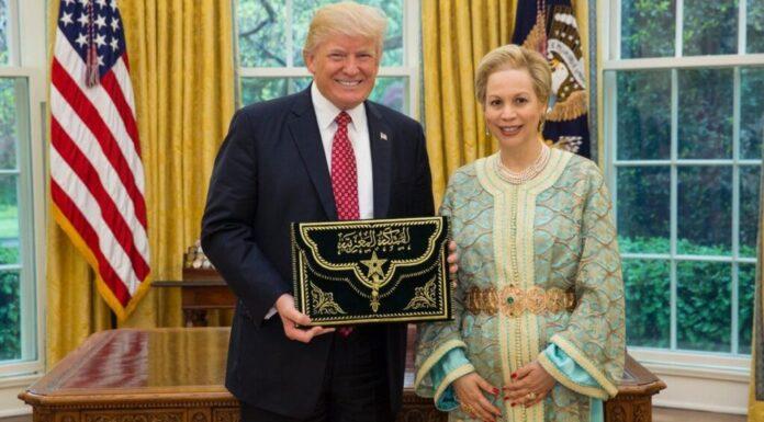 President Trump and Princess Lalla Joumala Alaoui, Morocco's Ambassador to the U.S.
