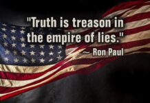 """""""Truth is treason in the empire of lies."""" ~ Ron Paul"""
