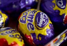 Box of five Cadbury's Creme Eggs